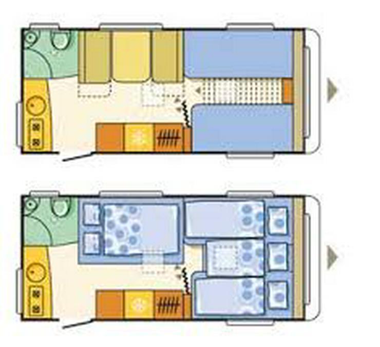 Bild 2: Wohnwagen Adria Aviva 482 LH, Mover, Klima, TV, Vorzelt, Warmwasser