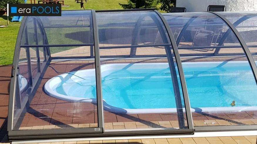 Bild 4: GFK Pool Überdachung Klasik B Anthrazit PC4 VORMONT.+ Lieferung GRATIS