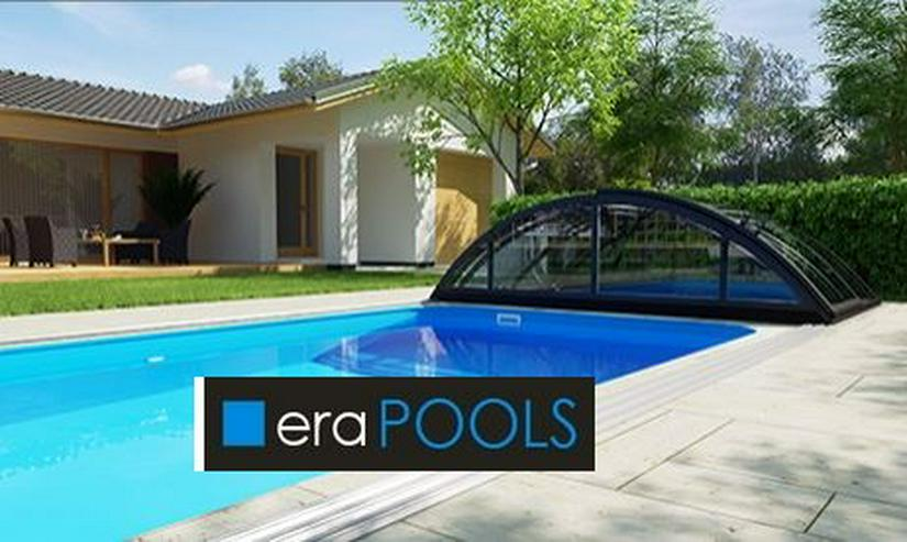 Bild 3: GFK Pool Überdachung Klasik B Anthrazit PC4 VORMONT.+ Lieferung GRATIS