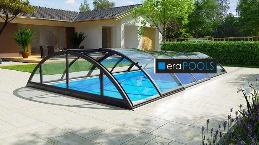 GFK Pool Überdachung Klasik B Anthrazit PC4 VORMONT.+ Lieferung GRATIS - Pools - Bild 1
