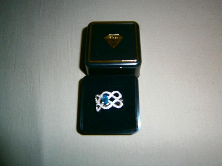 AMY VERMONT Damenring mit Blautopas - Grösse 52 - Ringe - Bild 1