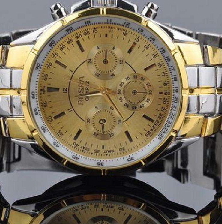 ROSRA No.36.5  Flieger-Herrenarmbanduhr Chronodesign Bicolor  NEU - Herren Armbanduhren - Bild 1