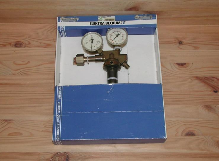 Elektra Beckum Druckminderer mit 2 Manometer MIG/MAG - Metallverarbeitung & Fahrzeugbau - Bild 1