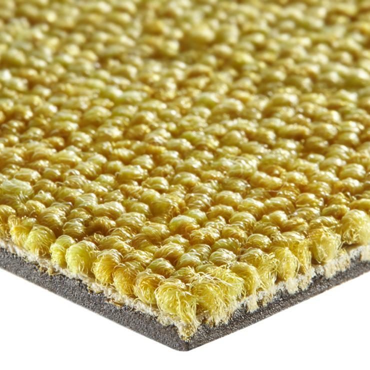 Bild 3: 180m2 Selbstliegende Schöne Gelbe Teppichfliesen von Interface