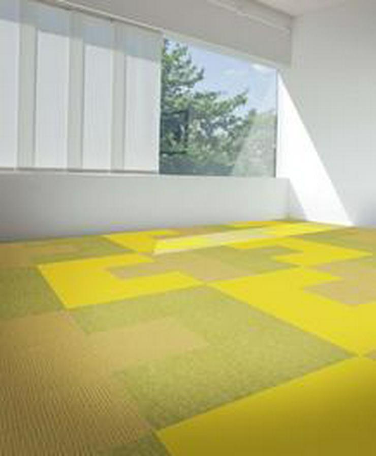 Bild 5: 180m2 Selbstliegende Schöne Gelbe Teppichfliesen von Interface