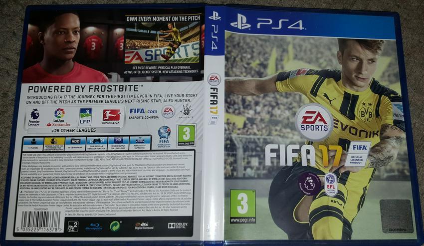 Fifa 17 PS4 Playstation 4 PS 4 Playstation4 Fussball EA Sports
