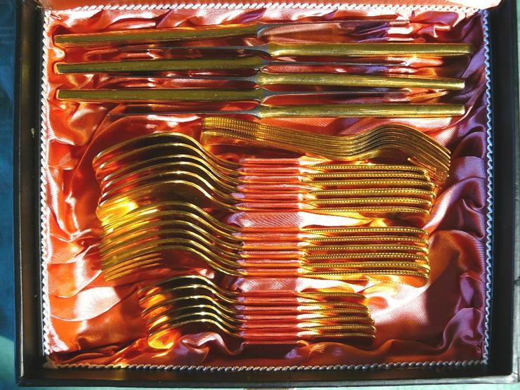 Bild 2: Essbesteck 36 Teile 24 Karat hartvergoldet (BE026)