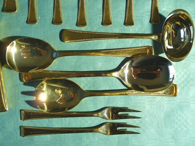 Bild 6: Essbesteck 36 Teile 24 Karat hartvergoldet (BE026)