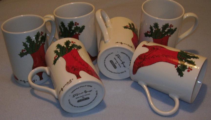 Verkaufe 6 Porzellan Tassen von 1995 The Andy Warhol