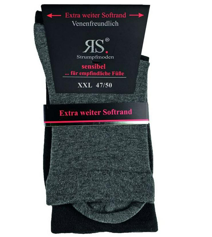 2 Paar Diabetikersocken - Schwarz/Grau