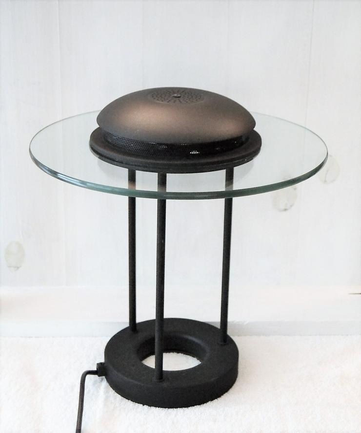 Schreibtischleuchte schwarzes Metall mit Glas.