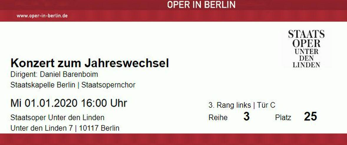 Karten für das Neujahrskonzert in der Berliner Staatsoper - Konzerte - Bild 1