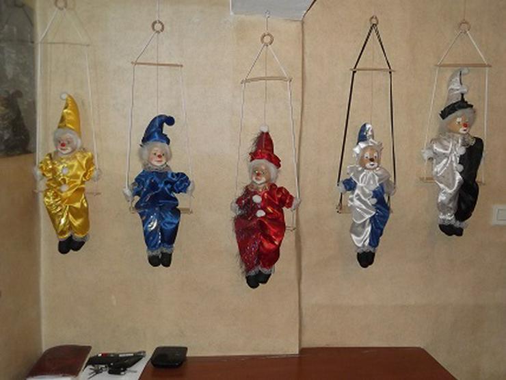 Clowns 5x Gelb, Blau, Rot, Weiß/Blau, Weis/Schwarz
