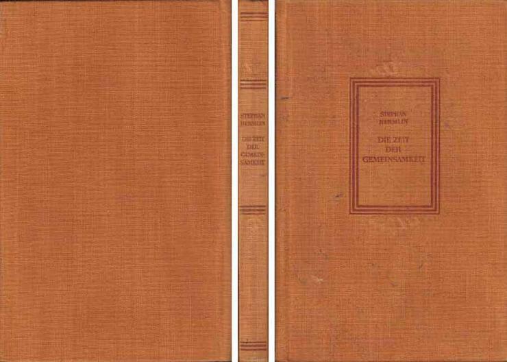 Buch von Stephan Hermlin - Die Zeit der Gemeinsamkeit - Erzählungen - 1956 - Romane, Biografien, Sagen usw. - Bild 1