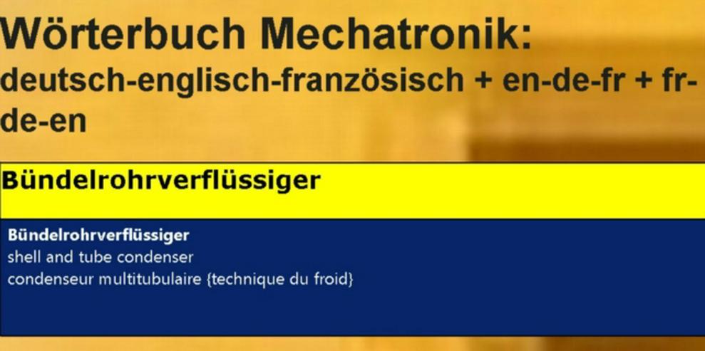 Bild 1: franzoesische Sprache: Kaeltetechnik-Vokabeln