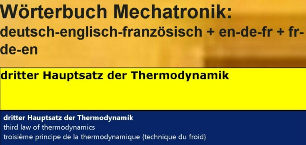 Bild 3: franzoesische Sprache: Kaeltetechnik-Vokabeln