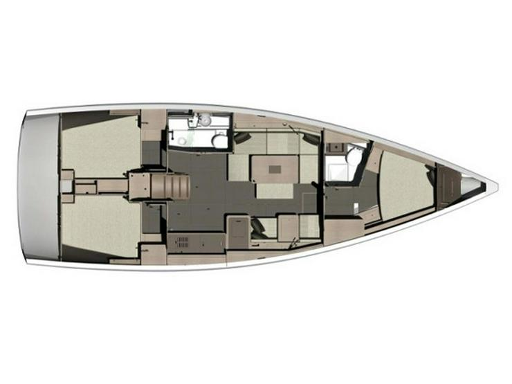 Bild 2: Yachtcharter Dufour 412 GL - Kroatien - Sukosan, Biograd, Zadar