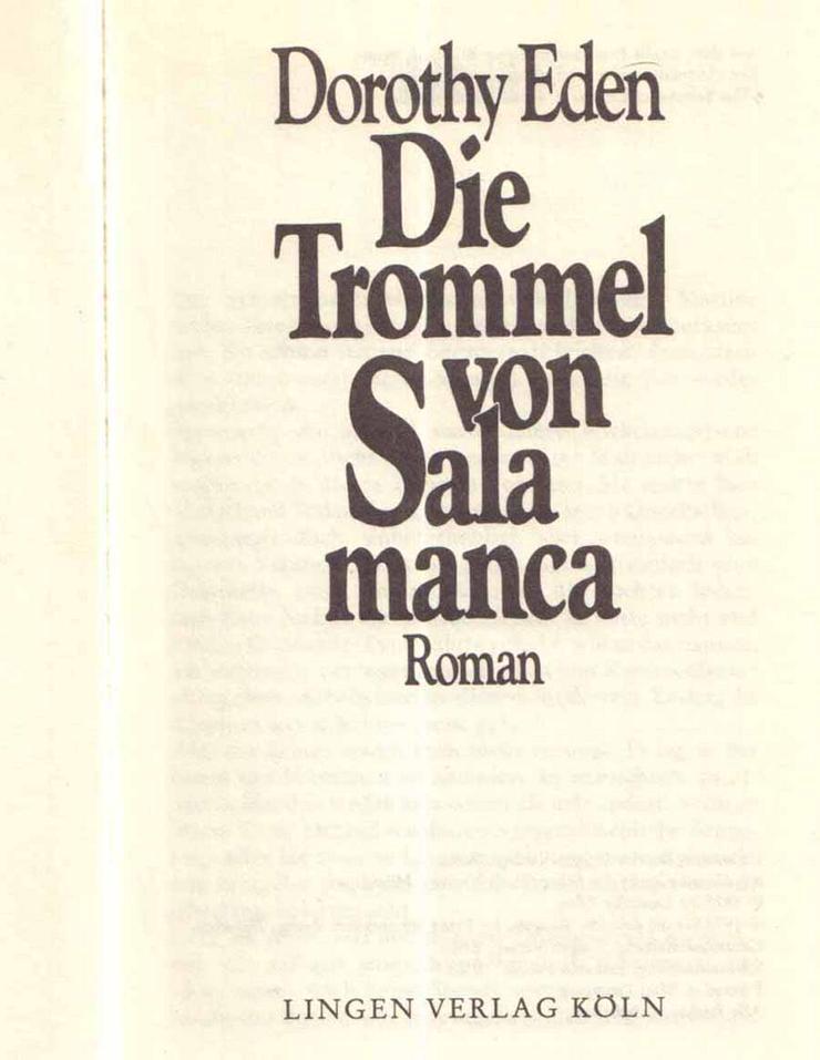 Bild 2: Buch von Dorothy Eden - Die Trommel von Salamanca - ein Roman - 1978