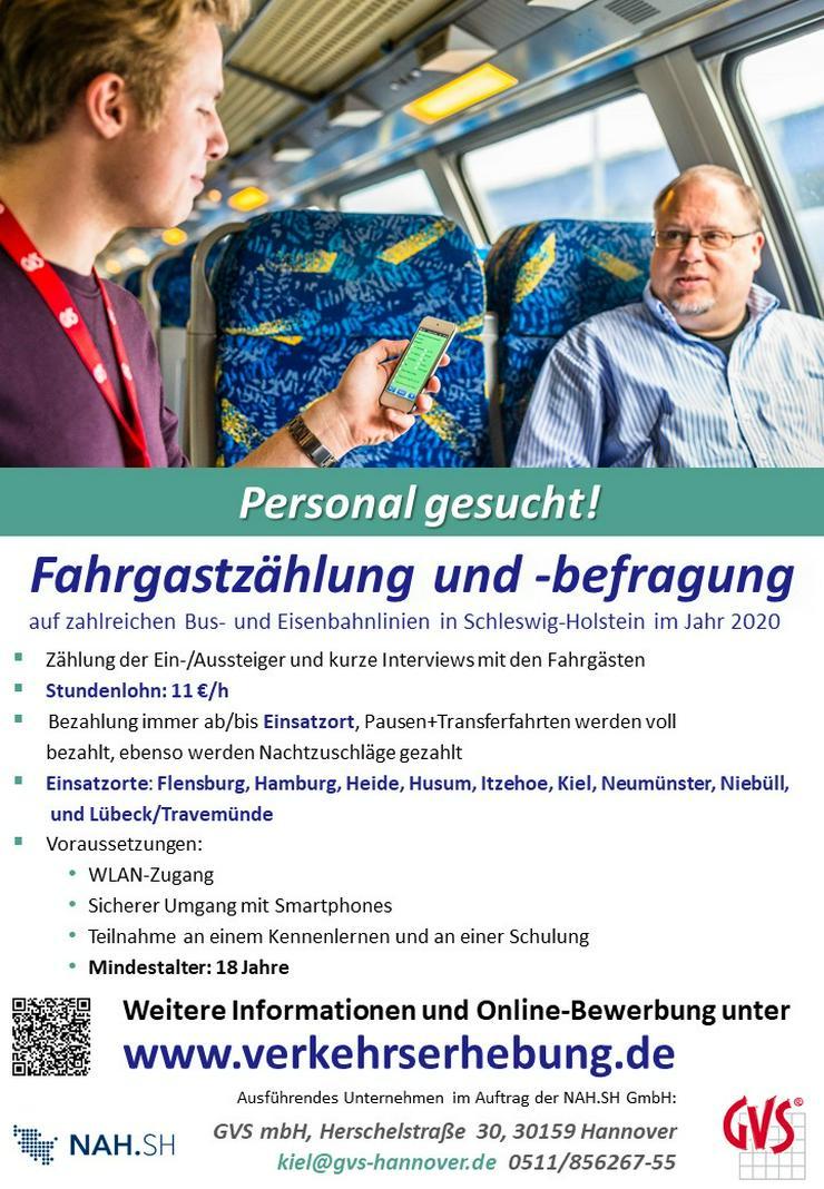 Nebenjob/Minijob Fahrgastbefragungen in Schleswig-Holstein