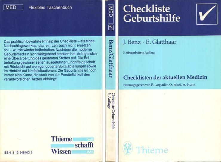 Benz & Glatthaar - Checkliste Geburtshilfe aus Checklisten der aktuellen Medizin - Gesundheit - Bild 1