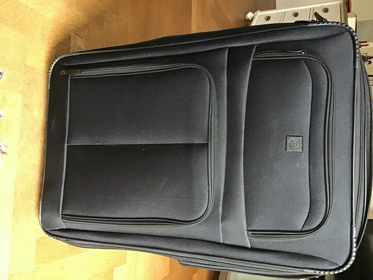 Koffer groß Weichschale auf Rollen schwarz neuwertig