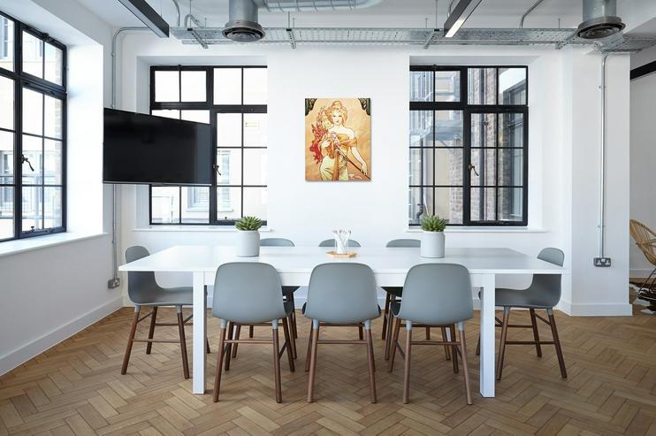 """Bild 2:  Bild kopieren von """"Bouquet"""" Alfons Mucha 40x50cm"""