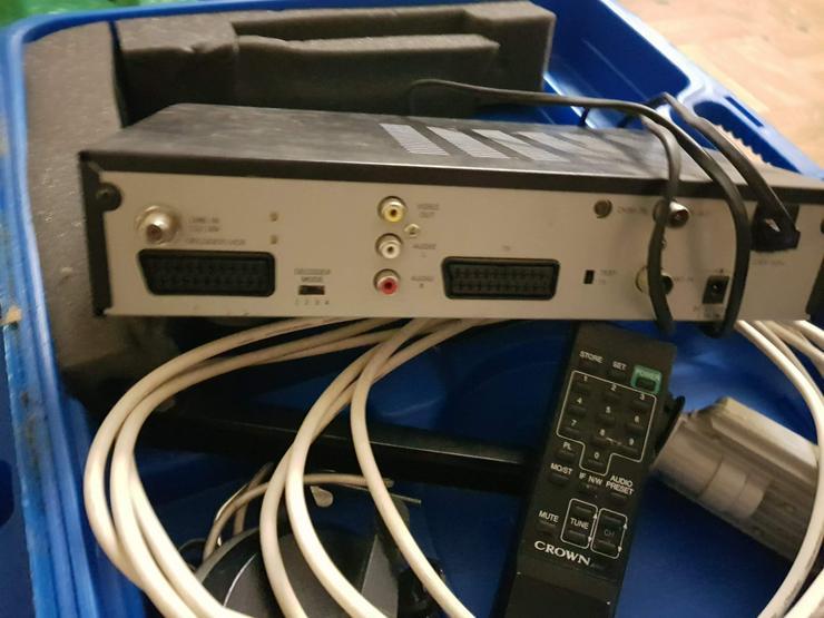 Bild 5: Komplettsatanlage mit Schüssel und Reseiver 150VB.