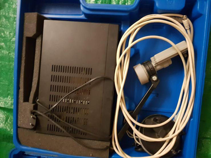 Bild 2: Komplettsatanlage mit Schüssel und Reseiver 150VB.