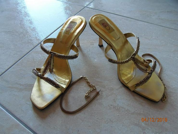 Standesamt Schuhe, Gold, einmal getragen