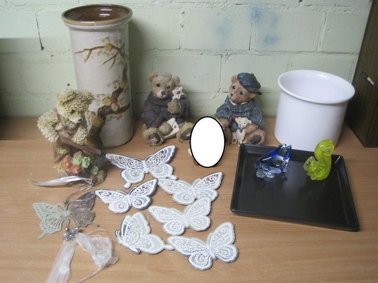 31x Deko Haushalt Schirm Dosen Lampe Tablett Vase Kiste Bären