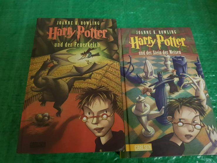 2 Gebundene Bücher von Harry Potter siehe Bild!!