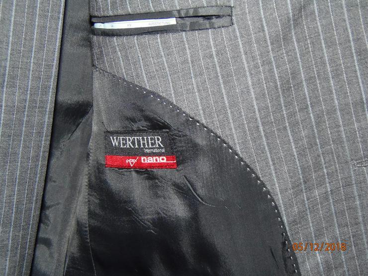 Bild 2: Marke Werther international, nano ntex, Gr. 48, Sakko + Hose, Neu/ Ungetragen, grau, gestreift