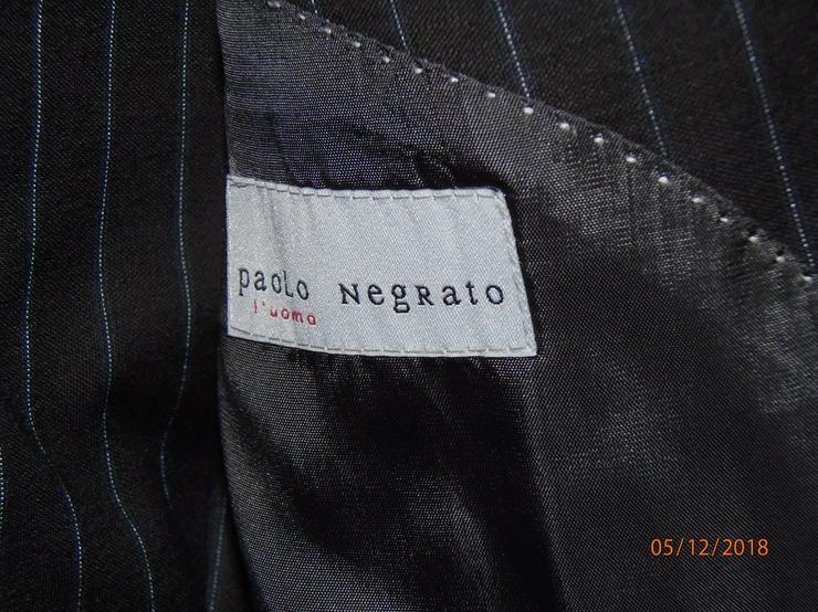 Bild 2: Marke Paolo Negrato, l´uomo/ Italien, Gr. 48, Sakko + Hose, Neu/ Ungetragen, schwarz, gestreift
