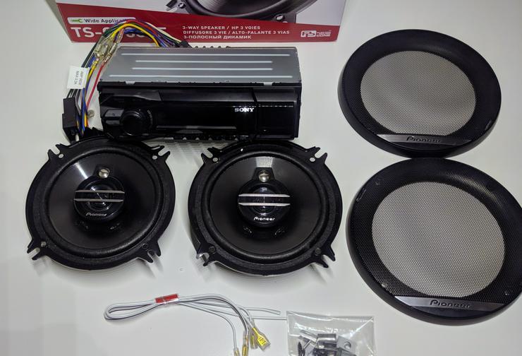 Pioneer TS-G1330F Auto Lautsprecher Anlage Neuwertig + Sony Radio DSX-A42UI