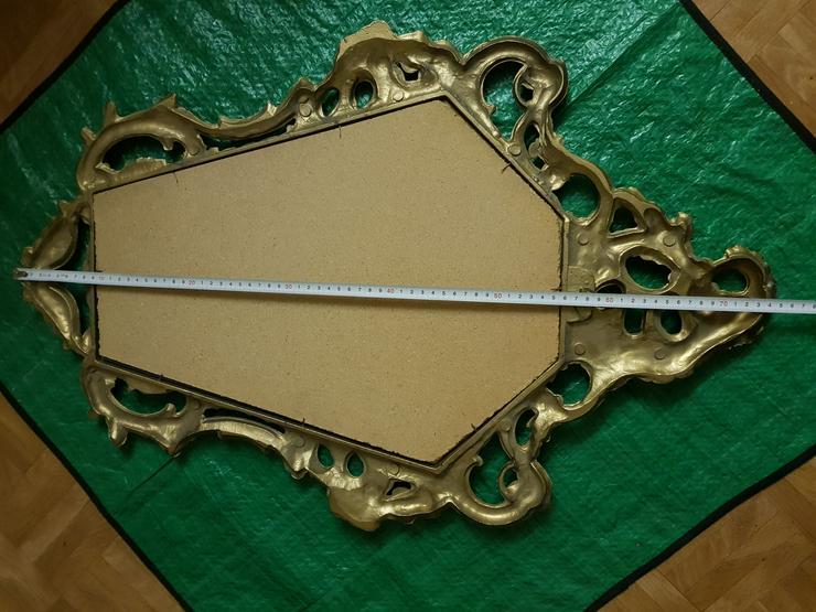 Bild 3: Spiegel gut erhalten siehe Bilder Goldfarbend !!