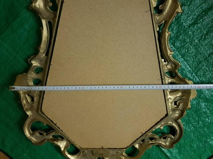 Bild 4: Spiegel gut erhalten siehe Bilder Goldfarbend !!