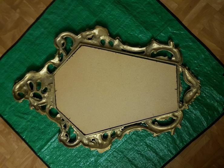 Bild 2: Spiegel gut erhalten siehe Bilder Goldfarbend !!