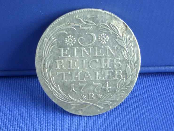 Bild 2: 3 einen Reichs Thaler 1774 B