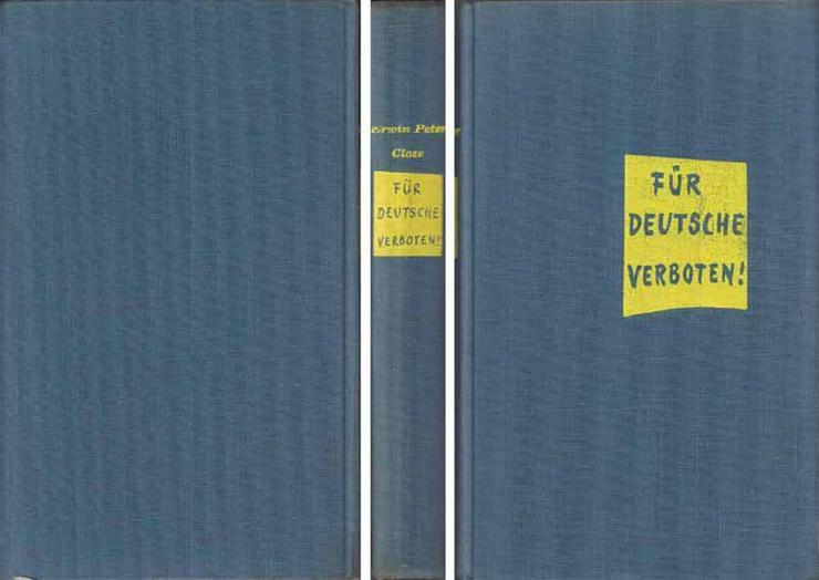 Bild 2: Buch von Erwin Peter Close - Für Deutsche verboten - eine Satire