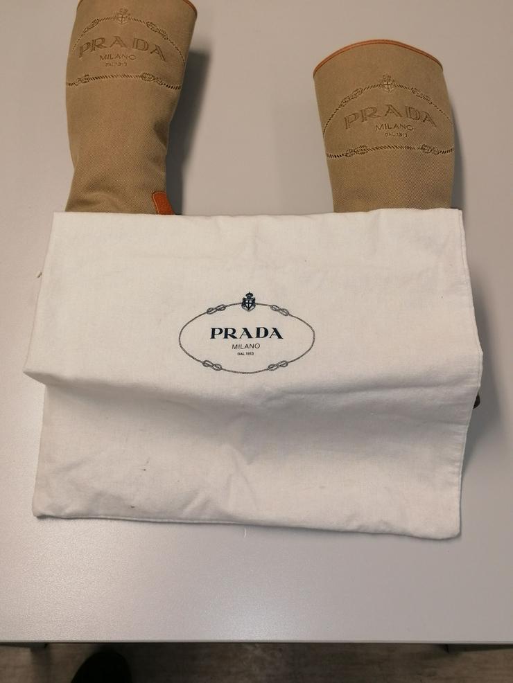 Sehr schöne original Prada Stiefel Canvas und Leder