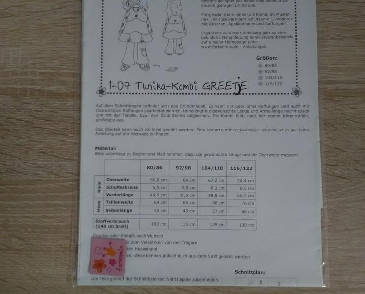 Bild 3: Farbenmix Schnittmuster Mädchen Tunika-Kombi Greetje.