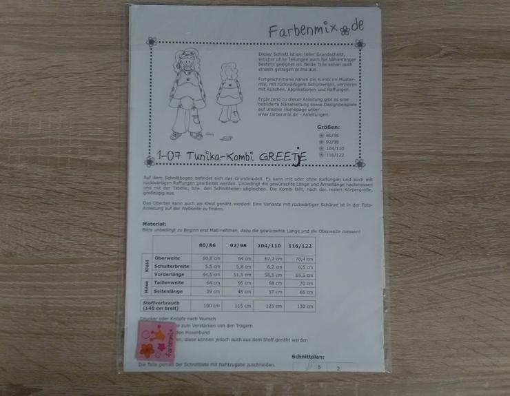 Farbenmix Schnittmuster Mädchen Tunika-Kombi Greetje. - Handarbeiten & Basteln - Bild 1