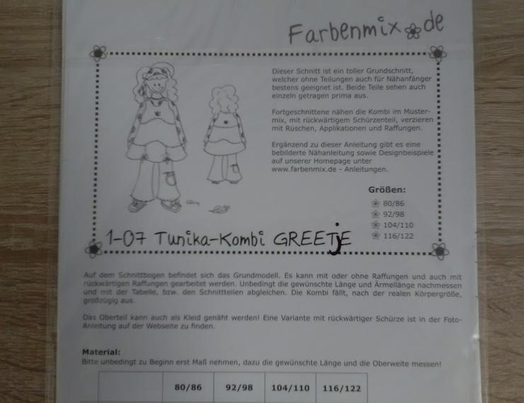 Bild 2: Farbenmix Schnittmuster Mädchen Tunika-Kombi Greetje.