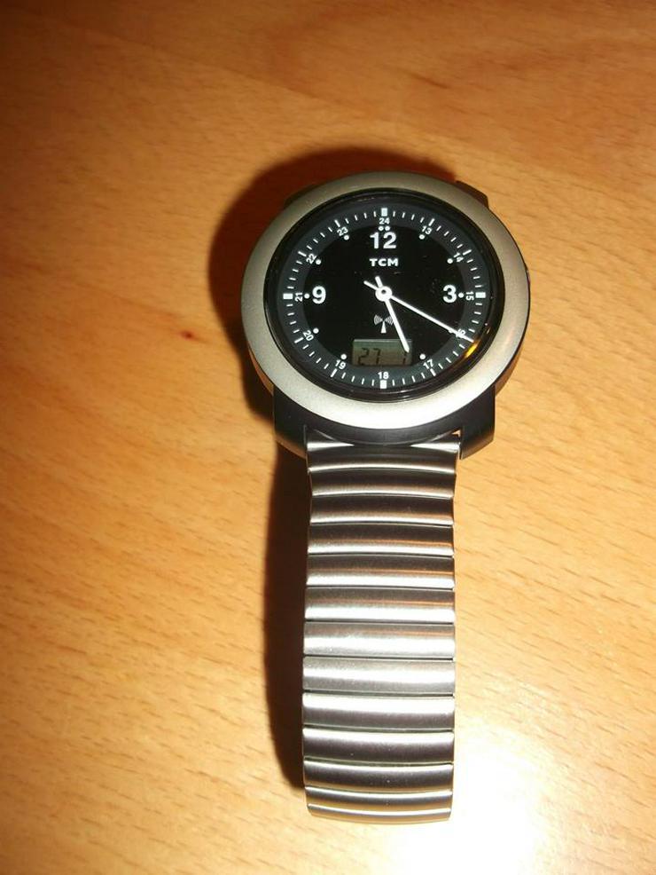 Funkuhr, Armbanduhr, Herrenuhr, Damenuhr, Radio Control Watch, TCM-0118 Neu