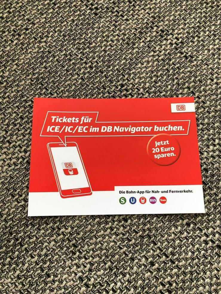 DB Gutscheine zu verkaufen. Ecoupon 20 Euro wert.