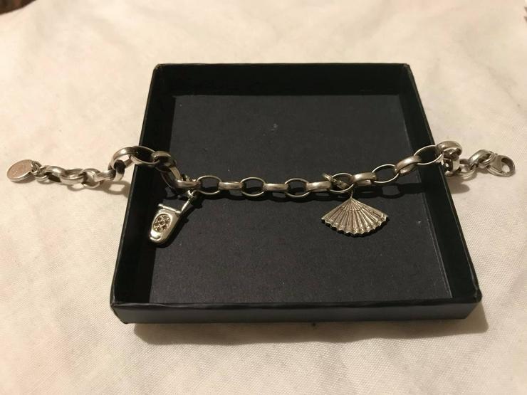 Silber Armband mit zwei Anhänger guter Zustand - Armbänder & Armreifen - Bild 1