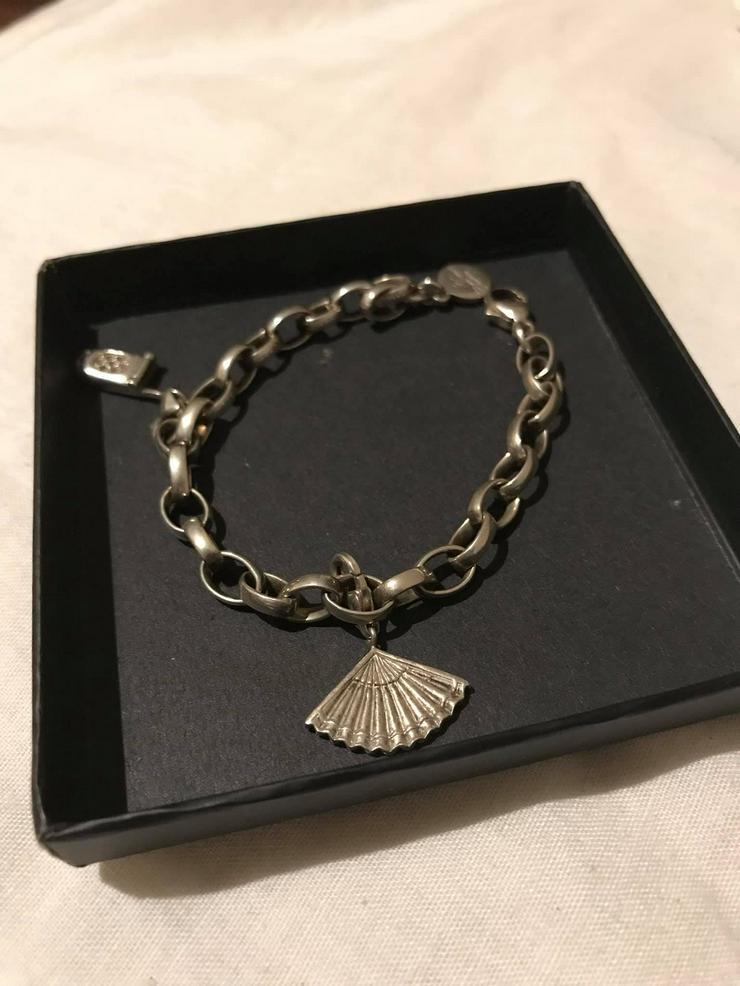 Bild 2: Silber Armband mit zwei Anhänger guter Zustand