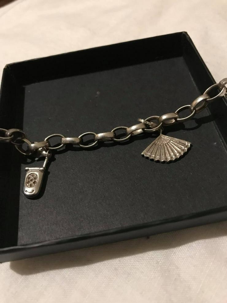 Bild 3: Silber Armband mit zwei Anhänger guter Zustand