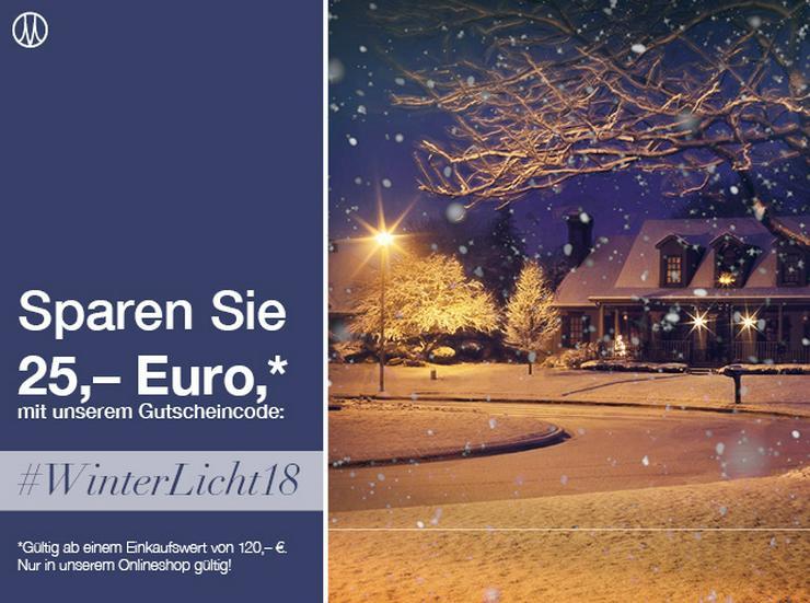 Sparen Sie jetzt mit dem Gutscheincode: #WinterLicht18 - NUR bei Menzel Leuchten gültig!