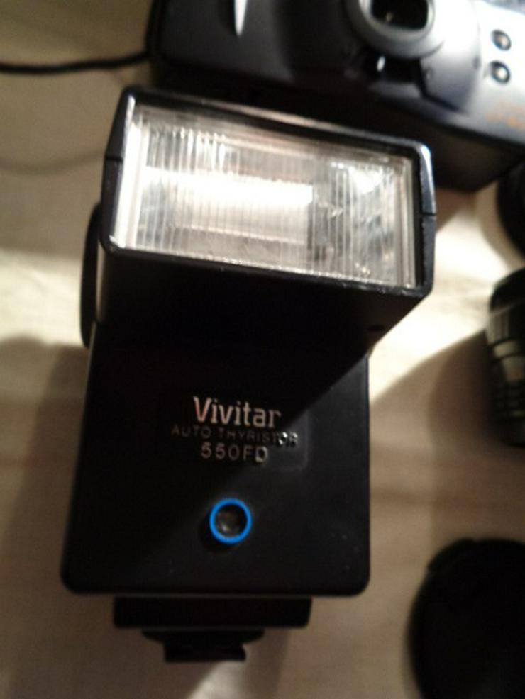 Bild 3: 2 Kameras Canon+Casio Digital+2 Objektive+Blitz in Taschen